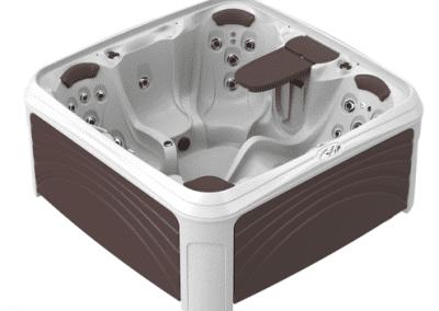 White Diamond Spa with Espresso Panels
